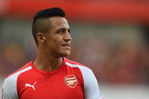 LONDON, ENGLAND - AUGUST 03:  Alexis Sanchez of Arsenal looks on during the Emirates Cup match between Arsenal and AS Monaco at the Emirates Stadium on August 3, 2014 in London, England.  (Photo by Michael Regan/Getty Images)